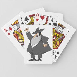 Angry Rabbi Playing Cards