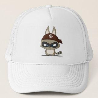 Angry raccoon cap cute cartoon funny character hat