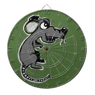 Angry rat dart board