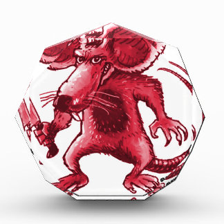 angry rat with knife red contour award