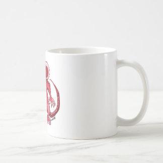 angry rat with knife red contour coffee mug