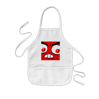 Angry Red Rage Face Aprons