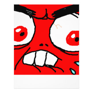 Angry Red Rage Face Flyer