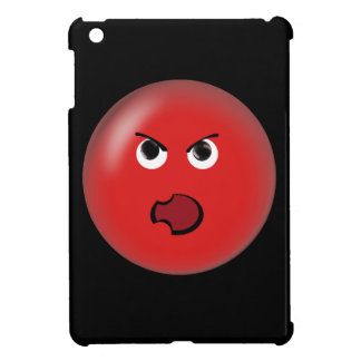 Angry Red Smiley iPad Mini Cases