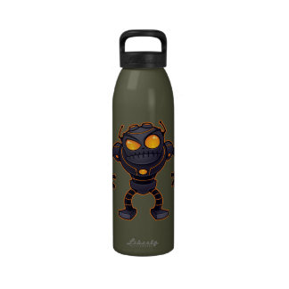 Angry Robot Drinking Bottle