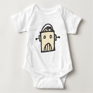 Angry Robot with Brain Baby Bodysuit