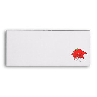 angry rotten tomato cartoon character envelope