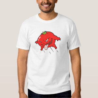 angry rotten tomato cartoon character T-Shirt