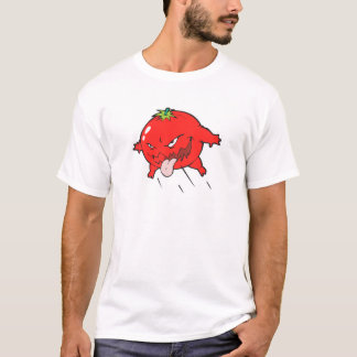 angry rotten tomato cartoon character T-Shirt