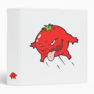 angry rotten tomato cartoon character vinyl binders