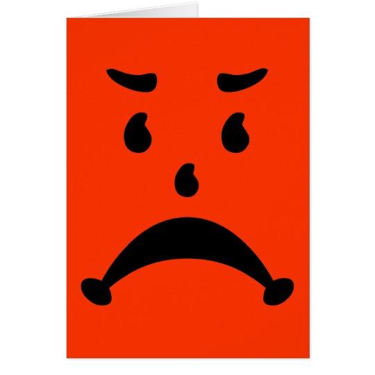 Angry Sad 80s Child Parody Card