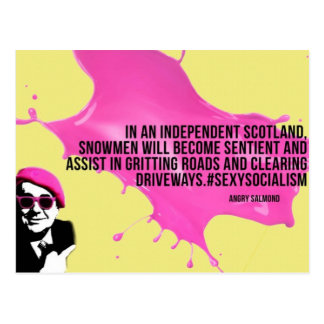Angry Salmond Quote Postcard