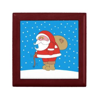 Angry Santa holding a Belt Christmas Gif Box