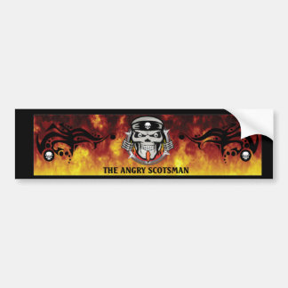 Angry-Scotsman-Sticker Bumper Stickers