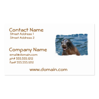 Angry Sea Lion Business Cards