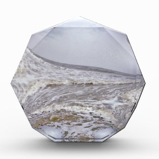 Angry Sea Waves Fractal Acrylic Award
