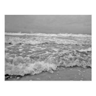 Angry Seas in Black and White Post Card