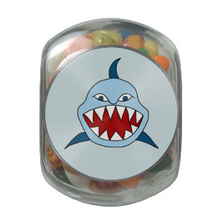 Angry Shark Jelly Belly Candy Jar