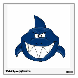 Angry Shark Wall Decal