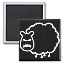 Angry sheep magnet
