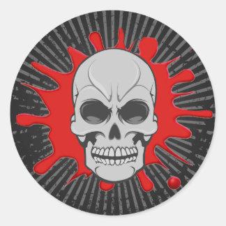 Angry Skull & Blood Splat: Custom Sticker