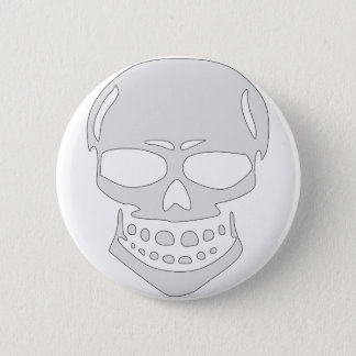 Angry Skull Face Pinback Button