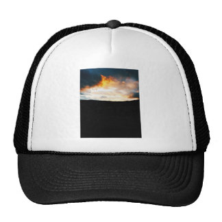 Angry sky with fire colors and clouds trucker hat