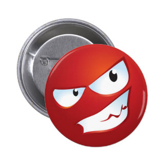Angry Smile 2 Inch Round Button