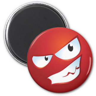 Angry Smile 2 Inch Round Magnet