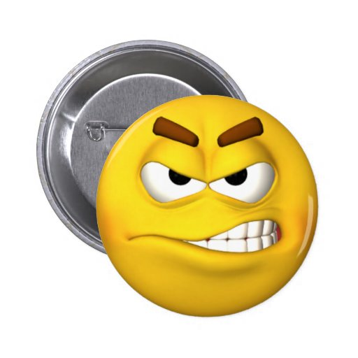 Angry Smiley Face button