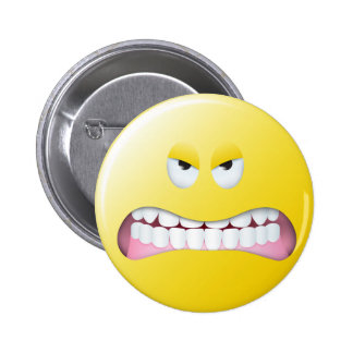 Angry Smiley Face Pins