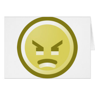 Angry Smiley Face Design Card