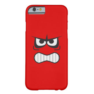 Angry Smiley Face Funny Barely There iPhone 6 Case
