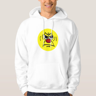 Angry Smiley Face Grumpey Hoodie