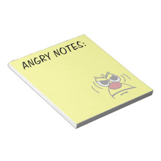 Angry Smiley Face Grumpey Notepad