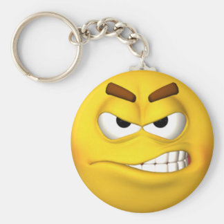 Angry Smiley Face Keychain