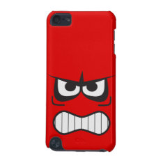 Angry Smiley Face Red Ipod Touch 5g Case at Zazzle