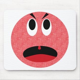 Angry smiley mousepad
