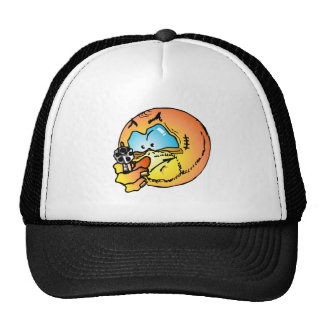 Angry smiley trucker hat