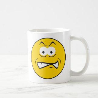 Angry Snarling Smiley Face Coffee Mug