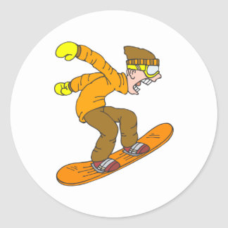 Angry Snowboarder Stickers