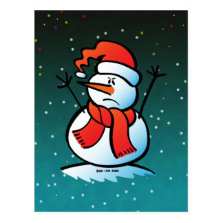 Angry Snowman Post Card