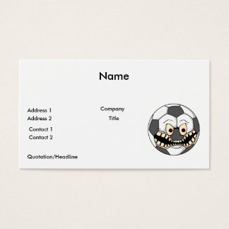 angry soccer ball business card