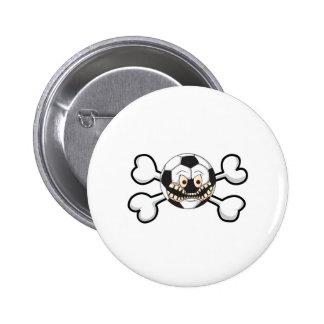 Angry soccer ball Skull and Crossbones Pins