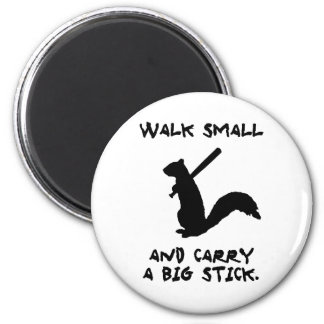 Angry Squirrel: Environment Protector 2 Inch Round Magnet