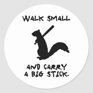 Angry Squirrel: Environment Protector Classic Round Sticker