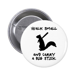 Angry Squirrel: Environment Protector Pinback Button