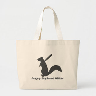 Angry Squirrel Militia Large Tote Bag