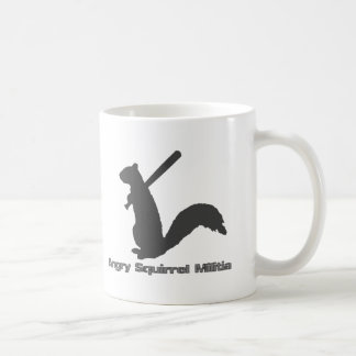 Angry Squirrel Militia Coffee Mugs
