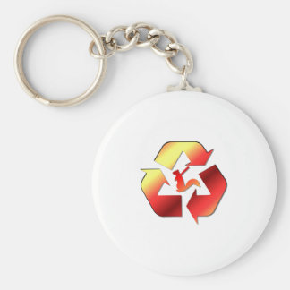 Angry Squirrel Militia Official Logo Keychain
